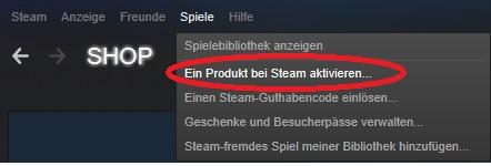 Ein Spiel bei Steam aktivieren