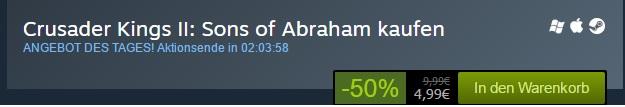 PC-Spiel bei Steam reduziert