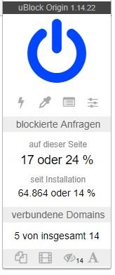 uBlock Origin Stats
