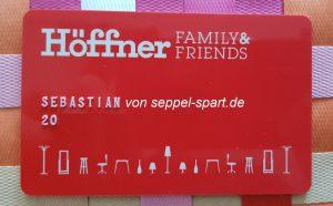 Kundenkarte Von Möbel Höffner Oh Ja Seppel Spartde