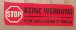 KEINE WERBUNG!