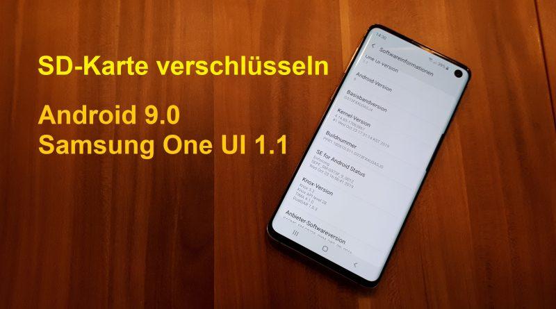 SD-Karte verschlüsseln unter Android 9.0